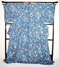 Japanese vintage Kimono robe wedding kimono dress Shawl ladies floral blue robe