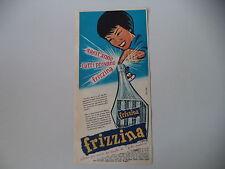 advertising Pubblicità 1961 FRIZZINA STAR