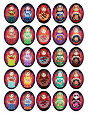 Russian Dolls Babushka Matryoshka Greeting Cards Pack of 10