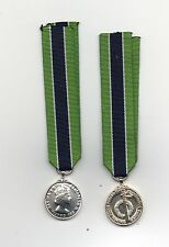 COLONIAL POLICE MERITORIOUS SERVICE MINIATURE MEDAL. SUPERB QUALITY.