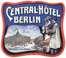 Berlin Germany   Vintage Looking   Travel Decal  Luggage Label Sticker