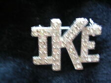 "President Eisenhower Campaign Button Bling Glam ""IKE"""