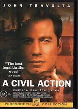 A CIVIL ACTION - DVD R4 John Travolta - LIKE NEW - FREE POST