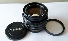 MINOLTA MD ROKKOR 50mmF1.4 55MM FILTER THREAD MANUAL FOCUS LENS