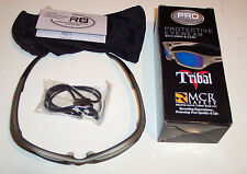 Crews Tribal Safety Glasses - Lot of 2 pr - Champagne Frame - Gray AF Lens -