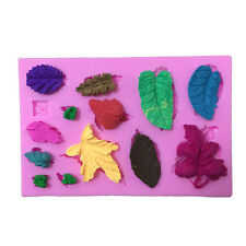3D Leaves Vein Silicone Fondant Mould Cake Decor Baking Molds for Cookies