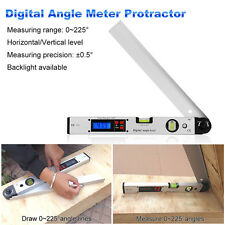Digital LCD Screen Angle Finder Protractor Meter Level Measuring 0~225°