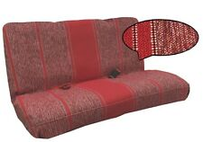 Burgundy Red Woven Full Size Saddle Blanket Bench Seat Cover Chevy Silverado