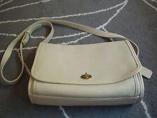 vintage COACH bone leather shoulder bag