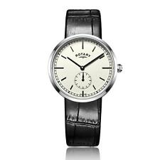 Men's stainless steel Canterbury Leather watch RRP £89 Our Price £70.95