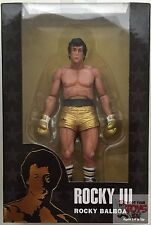 "ROCKY BALBOA ""gold trunks"" ROCKY III Neca 40th Anniversary 2017 7"" inch FIGURE"
