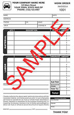 100 Custom Auto Repair Carbonless Forms, Receipts, Invoices FREE Numbering