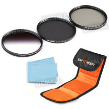 72mm CPL Circular Polarzing Neutral Density ND4 Graduated Grey Lens Filter Kit