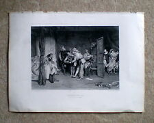 """Victorian Print ca.1870 """"Christopher Sly"""" (Shakespeare Taming of the Shrew)"""