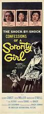 SORORITY GIRL Movie POSTER 14x36 Insert B Susan Cabot Dick Miller Barbara Crane