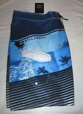 Billabong Mens Board Shorts NWT 31 Multi Color Blues