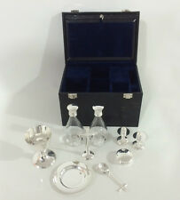 9 piece silver plated communion set - NEW