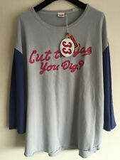 Levi's Vintage Clothing 70s Baseball Tee White Blue Emb XL RRP £105