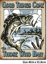 Good Things Come To Those Who Bait Tin Sign 1997 Made in USA