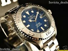 Invicta Mens Grand Diver Pro Blue Dial Stainless Steel Watch With 1 Slot Case