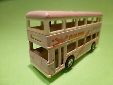 KINTOY CHINA DOUBLE DECK BUS - COLOR BRUSH - PINK 1:50? - RARE - GOOD CONDITION