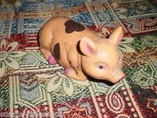 HAND CARVED Vintage WOODEN PIG ORNAMENT Figurine Collectable