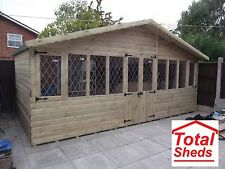 20x10 ULTIMATE LOG CABIN SUMMER HOUSE OFFICE BAR SHED TOP QUALITY GRADED TIMBER