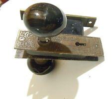 ANTIQUE VICTORIAN DOOR HANDLE LOCK SET