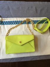 Tory Burch Robinson Envelope Clutch Crossbody Small Purse Neon NWT