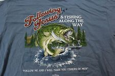 Following Jesus Follow Me And I Will Make You Fisher Of Men TEE T SHIRT XL
