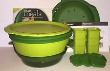 Tupperware Smart Steamer Bundle Lot - Ramekins - Sauce Tray- Recipe Book