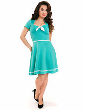 STEADY CLOTHING MINT SAILOR SWING DRESS - 1950s ROCKABILLY PIN UP GIRL - 1X