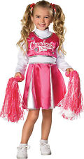 Girls Cheerleader Champ Costume Pink and White Cheer Dress Size Medium 8-10