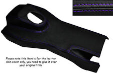 PURPLE STITCH MANUAL CENTRE CONSOLE TRIM LEATHER SKIN COVER FITS JAGUAR E TYPE