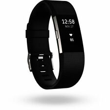 New !!! Fitbit Charge 2 Heart Rate + Fitness Wristband,Black/Small