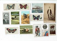 TRADE CARDS SMALL MIXED LOT PLUS TWO PHOTOS