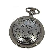 A E Williams Happy New Year Mens Gents Mechanical Pocket Watch With Chain 4806SK