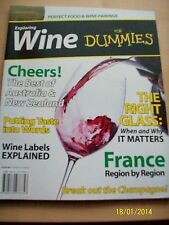 EXPLORING WINE FOR DUMMIES Perfect Food & Wine Pairings New Bookazine / Magazine