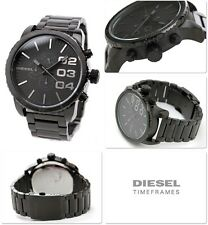BRAND NEW DIESEL DZ4207 BLACKOUT BLACK STAINLESS STEEL CHRONOGRAPH MEN'S WATCH