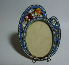 "Antique Italian Micro Mosaic Picture Frame Artist Palette Form 3.5"" Tall"