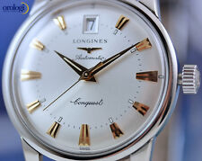 Longines Conquest Heritage Steel on Black Leather Automatic Watch L1.611.4.75.2