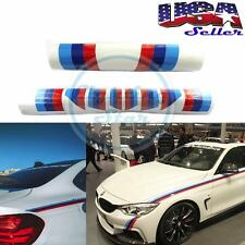 BMW M-Colored Vinyl Stripe Car Body Sport Sticker Set For 1 3 5 Series E90 M3 M5