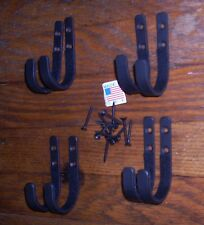 4 sets small plain wall mount Gun rack shotgun hooks rifle hangers felt lined