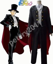 Custom-made Sailor Moon Tuxedo Mask Mamoru Chiba Cosplay Costume Cos Clothes