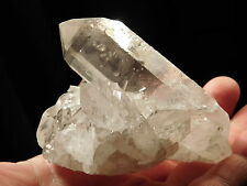 A 100% Natural Quartz Crystal Cluster with Frosty Hematite! Brazil 250.1gr
