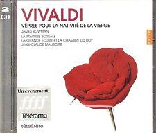 Vivaldi Vepres pour la Nativite de la Vierge CD NEW James Bowman Lynne Dawson