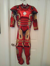 Boys-Size-Medium-8-Ironman-Deluxe-Costume-Muscle-Torso-Jumpsuit-Only-Rubie's