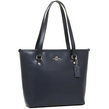NWT Coach New $295.00 Crossgrain Leather Zip Top Tote Shoulder Bag F36632