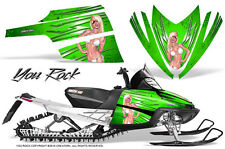 ARCTIC CAT M CROSSFIRE SNOWMOBILE SLED GRAPHICS KIT WRAP CREATORX YRG