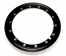 "Simulated beadlock Hubcap wheel rings -15"" Black Pressfit on any 15"" Steel Wheel"